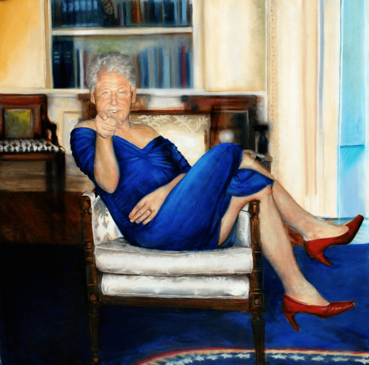 Odd Clinton Painting Found At The Home Of Dead Pedophile