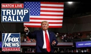 Trump holds campaign rally in Lake Charles, Louisiana