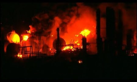 AP: Texas chemical plant fire burns through the night