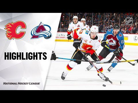 NHL Highlights   Flames @ Avalanche 12/9/19