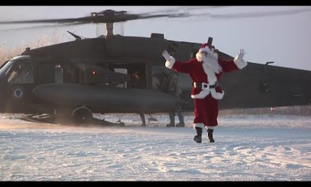 AP: Santa gets chopper ride to remote Alaska village