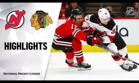 NHL Highlights | Devils @ Blackhawks 12/23/19