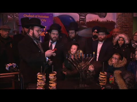 AP: Menorah lighting in Jersey City