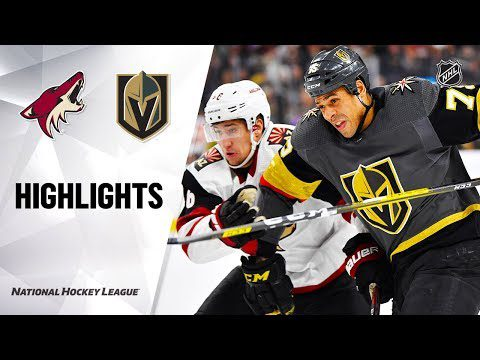NHL Highlights   Coyotes @ Golden Knights 12/28/19