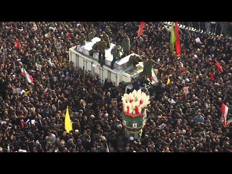 AP: Crowds in Tehran mourn slain General Soleimani