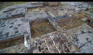 AP: Drone video of South Carolina tornado damage