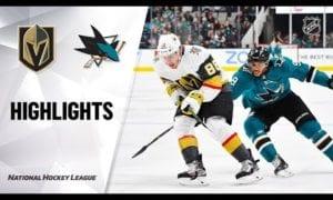 NHL Highlights   Golden Knights @ Sharks 12/22/19