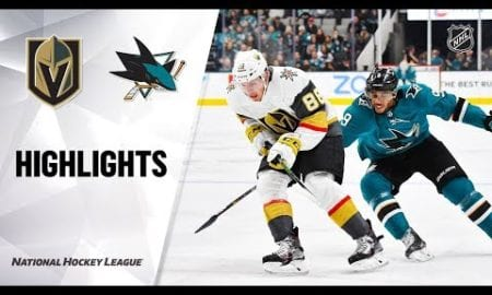NHL Highlights | Golden Knights @ Sharks 12/22/19