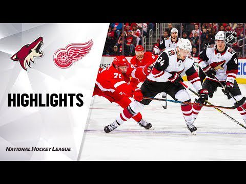 NHL Highlights   Coyotes @ Red Wings