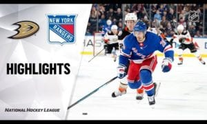 NHL Highlights | Ducks @ Rangers 12/22/19