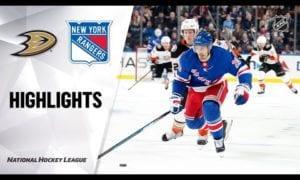 NHL Highlights | Ducks @ Rangers 12/22/19