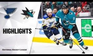 NHL Highlights   Blues @ Sharks 12/21/19
