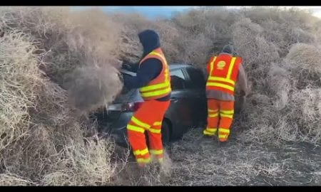 AP: Tumbleweeds trap cars, trucks in rural Washington